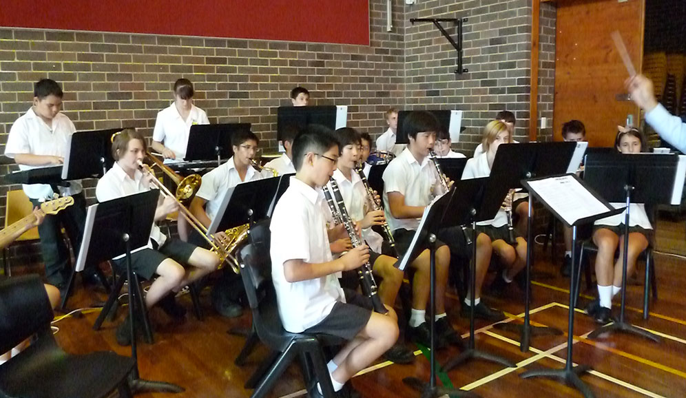 Concord High School Concert Band practising